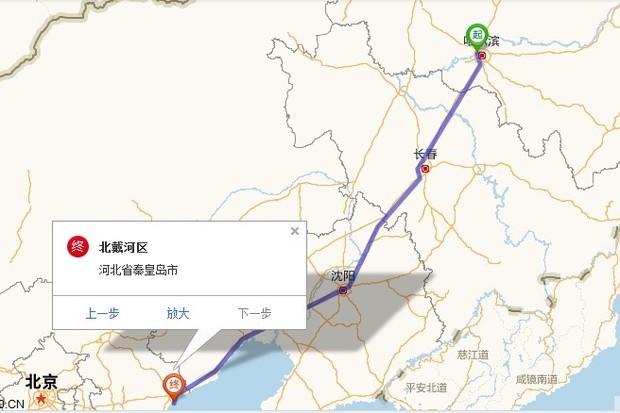 哈尔滨到北戴河自驾游多少公里