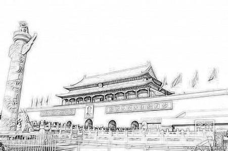 画国庆节的情景画怎么素描绘画_360问答