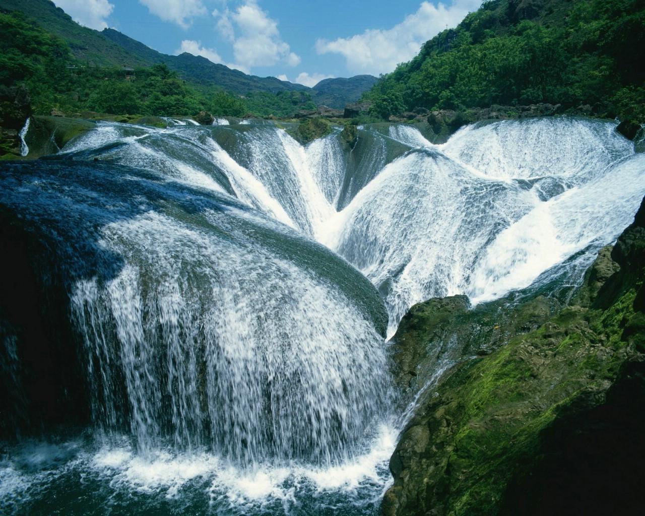 壁纸 风景 旅游 瀑布 山水 桌面 1280_1024