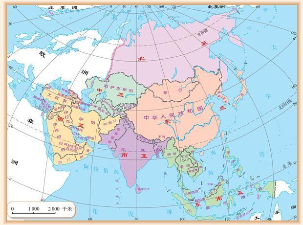 我地里里面除了东亚南亚还有什么亚 还有分布情况最好配图谢谢 哦还