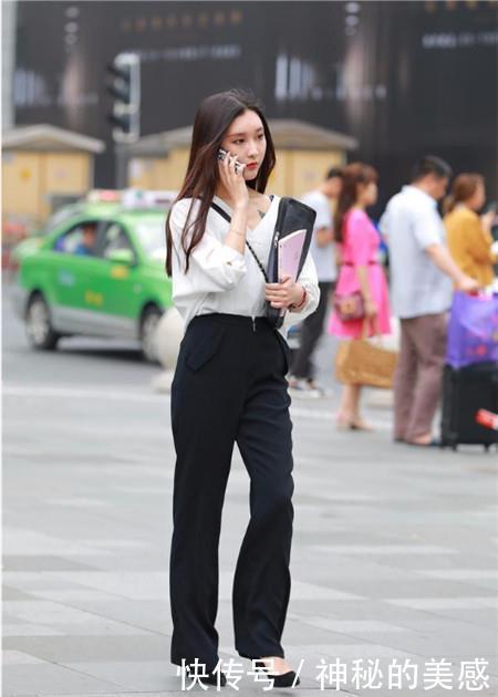 街拍:温文儒雅的小姐姐,身材紧致动人,凸显女神的魅力
