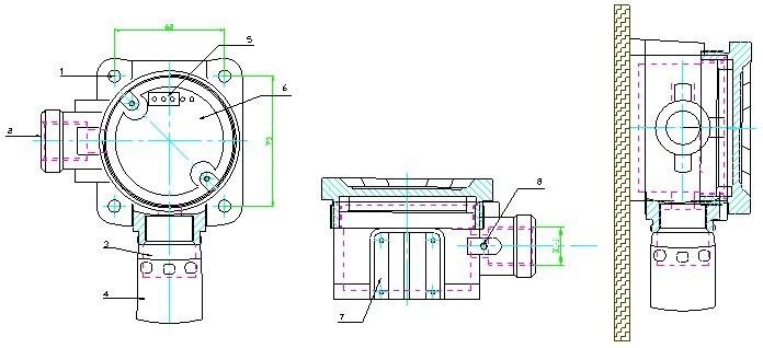rbt-1060点型气体探测器
