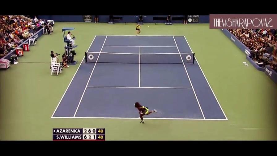 经典回顾:2012年美网决赛 小威vs阿扎伦卡