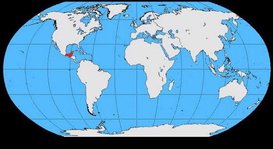 世界濒危动物分布地图