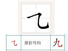 手字在田字格怎么写_在田字格里横拆弯钩怎么写