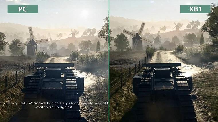 《战地1》主机版和PC版画面对比