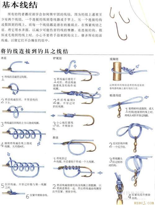 如何绑鱼钩图解-钓鱼怎样绑子线和鱼钩图解