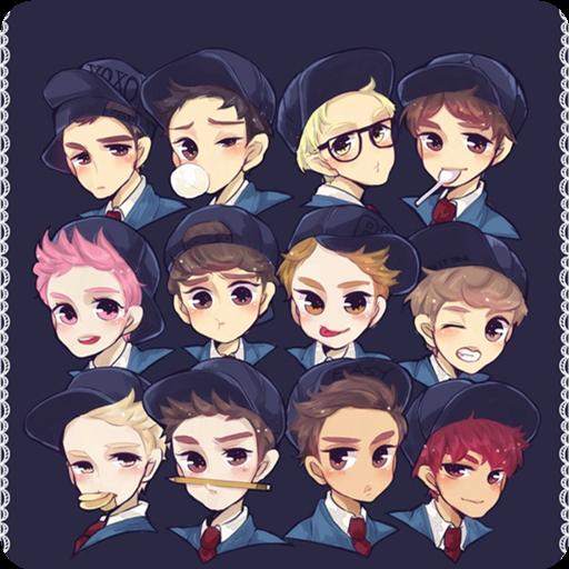 exo成员头像卡通图片