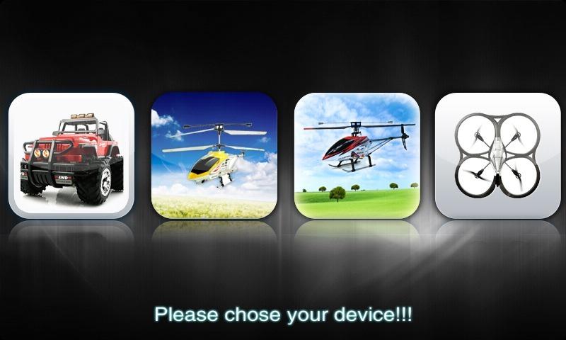 用智能手机通过蓝压控制遥控飞机