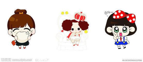 卡通图片可爱女孩 韩国