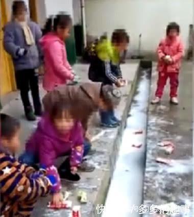 贫困县小学生将免费校方倒进水沟引v校方,牛奶巷小学百岁坊图片
