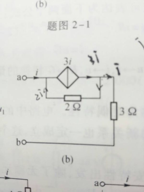 求教怎样分析含受控源的电路,比如求下图的等效电阻,真的不知道怎样求