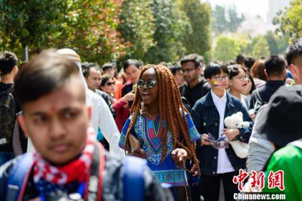 三峡大学留学生品中国文化展异国风情