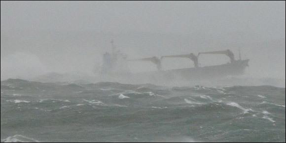 一艘巴拿马籍货船在韩国浦项港湾沉没 中国籍船长遇难