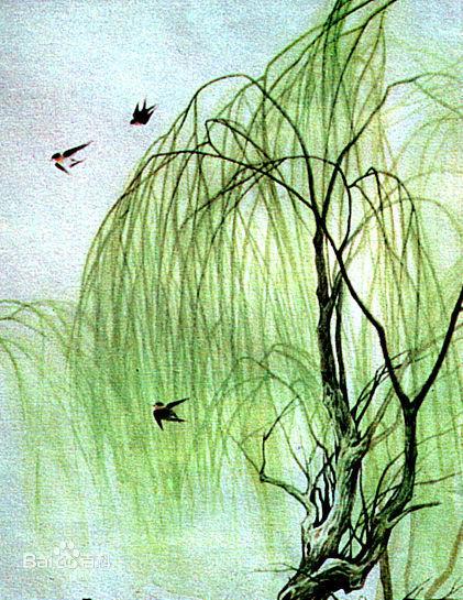诗 咏柳 手工撕贴画 小鸟的家 健康游戏 小蜜蜂采 瀑布简笔画大全图片