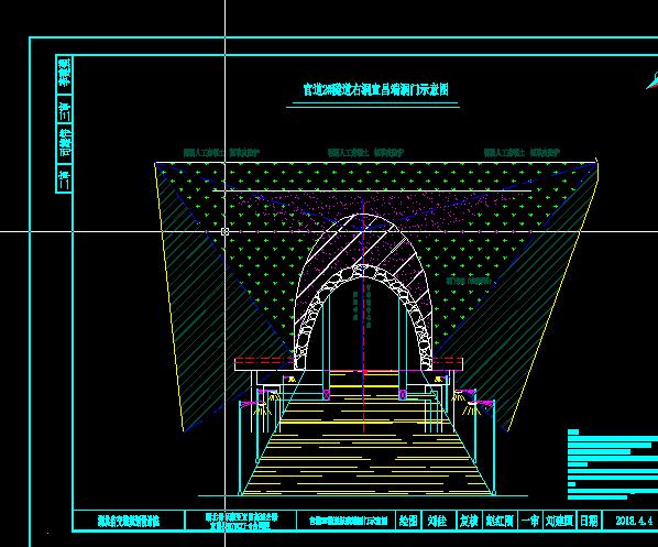 隧道洞门图纸斜切坐标cad帽檐?_360v隧道的上画法算面板怎么图片