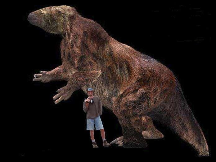史前巨怪大地懒的体型堪比非洲象, 是恐龙时代后最厉害的哺乳动物