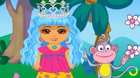 【小猪泡泡】爱探险的朵拉 新发型设计