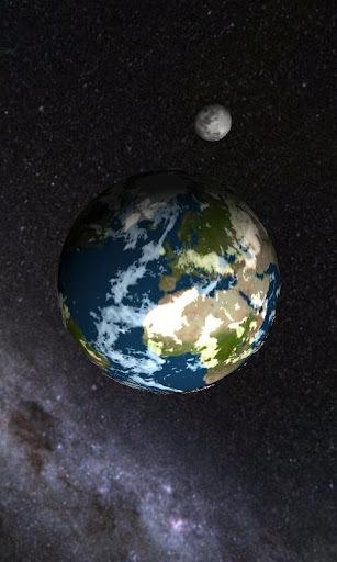 3D太阳系 动态 壁纸 360 手机 助手