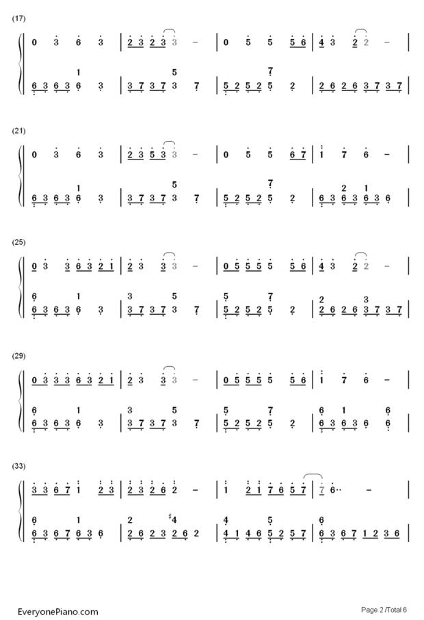 day by day数字钢琴谱