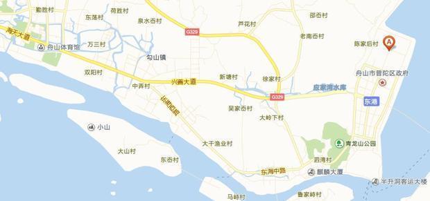 舟山普陀东港公交总站在哪个位置