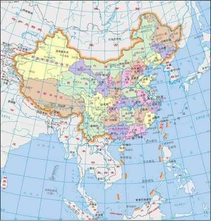 怎样画中国地图竖版
