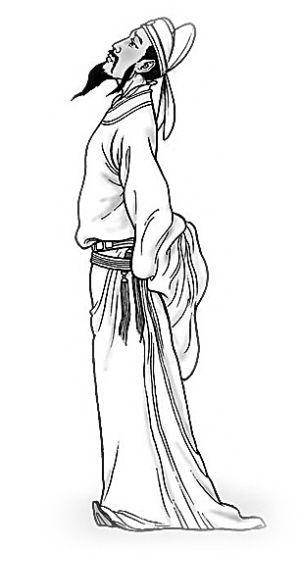 李白凤求凰铅笔手绘