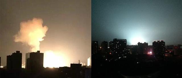 西安变电站深夜爆炸火光冲天 瞬间如白昼