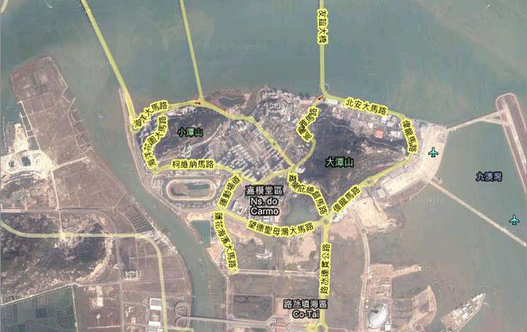 凼仔岛卫星地图