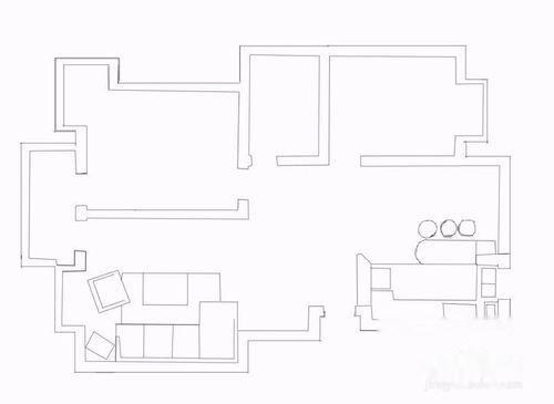 室内平面图手绘怎么画