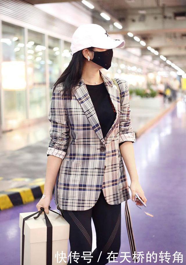 瘦身成功的陈妍希也敢挑战健美裤没想到这腿竟然这么美