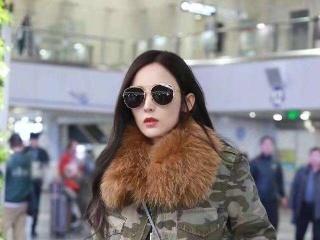 25岁古力娜扎现身机场,长发飘飘似仙女,网友:羡慕张翰!