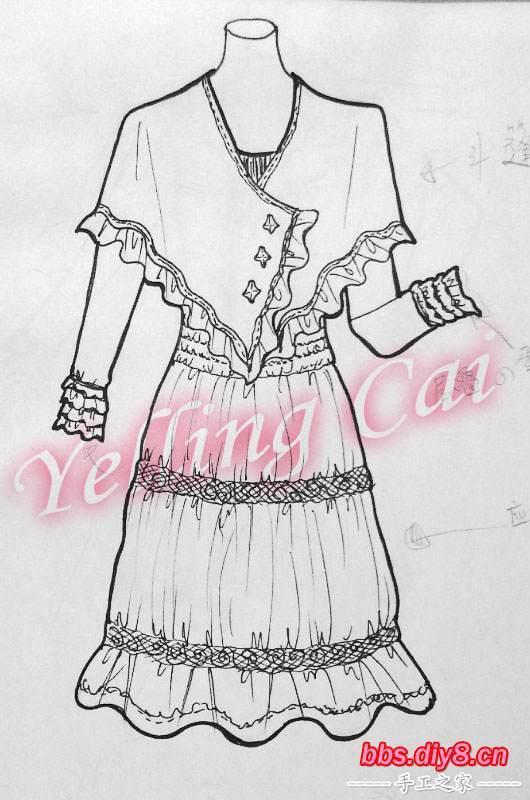又漂亮-简单好看的裙子怎么画-怎么画衣服连衣裙-简单的连衣裙怎么画图片