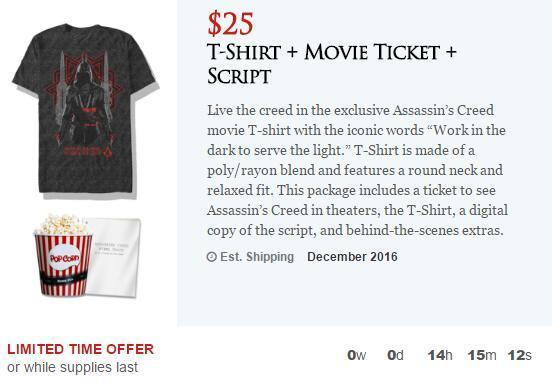 《刺客信条》电影票开启预购
