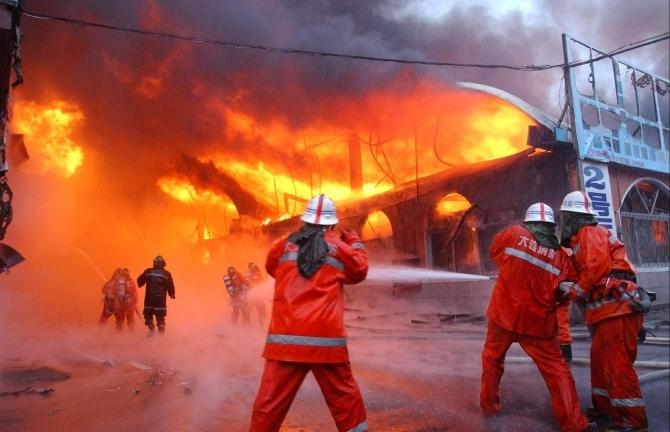 火灾消防手绘图