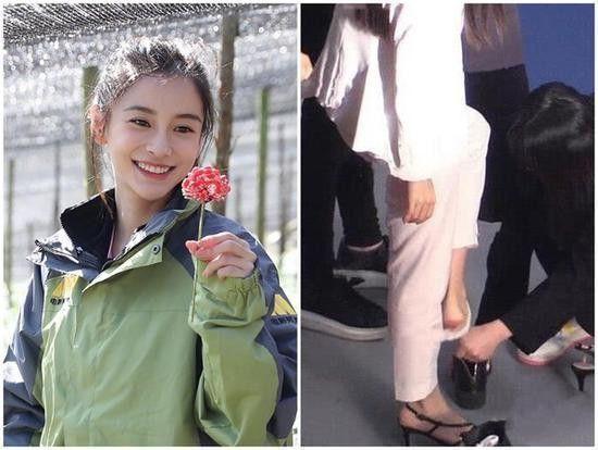 助理为杨颖穿鞋袜引争议被怼公主病?其实这是为了更有效率的工作