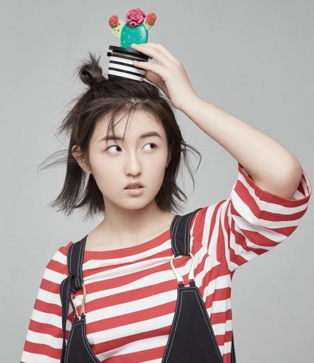 张子枫适合女生发型的发型圆脸,修颜又显瘦,充简单汉服发带图片短发图片