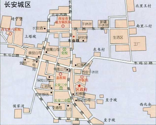 西安长安县地图图片; 西安市长安区行政图;