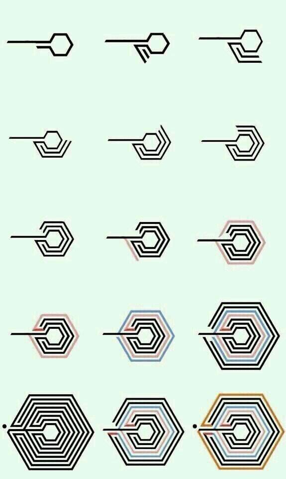 exo的标志图案 exo每个人的标志图案 exo标志图片