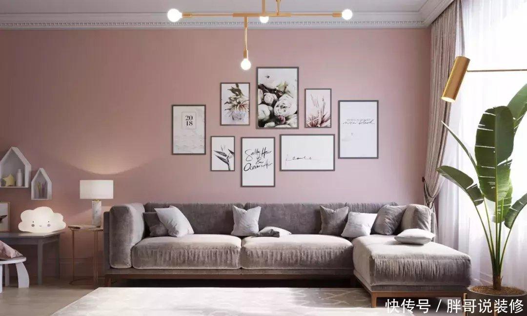 武汉装饰公司鹤立装饰北欧风格高级灰粉色系 够浪漫