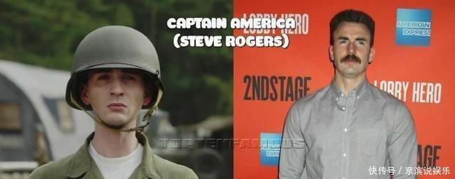 队长》几位演员今昔对比照,变化最大的还是美队