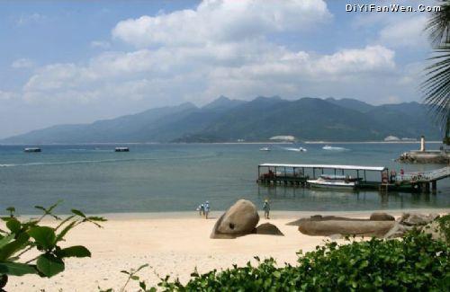 分界洲岛位于海南省陵水县东北部海面上