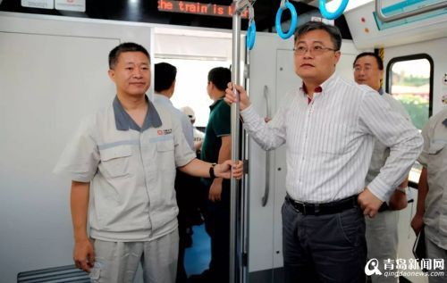 青岛造首款山地型地铁下线 车型国内首创(图)