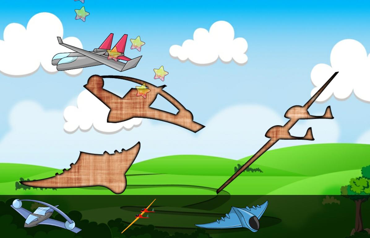 飞机拼图幼儿 游戏为幼儿