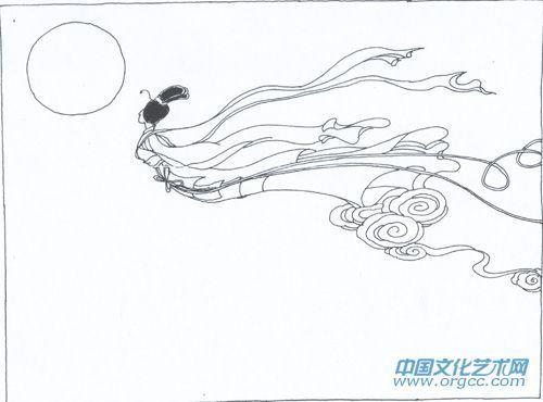 王者荣耀嫦娥手绘线稿