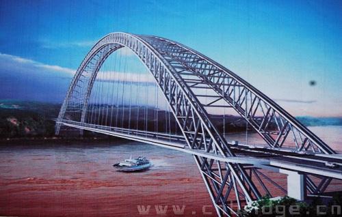 下承式钢桁架拱桥