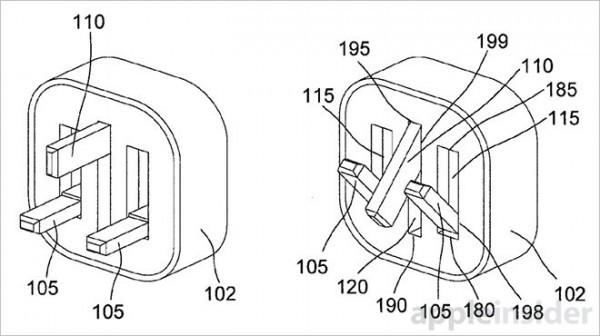 苹果获得磁力铰链结构的可折叠充电插头专利