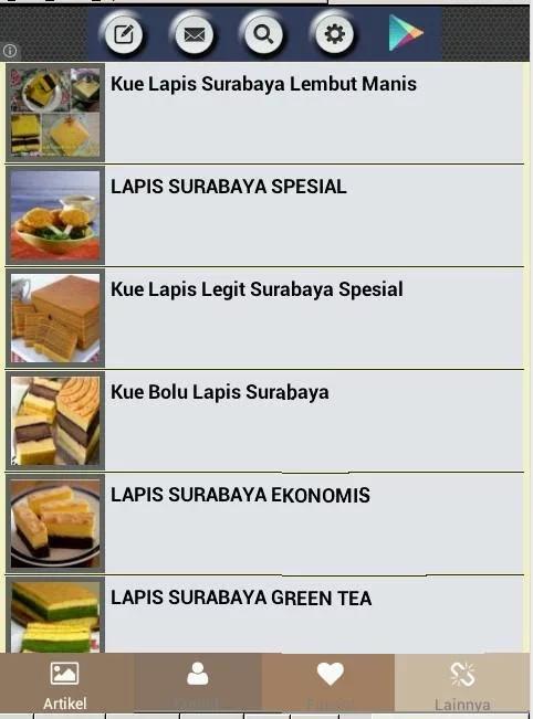 移动应用 Resep Lapis Surabaya